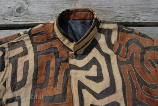 Bakuba raffia coat/jacket. Congo, probably mid 20th century. Unique, unisex coat for special people, exhibitions, tribal. fashion venues. Terribly chic or kitsch, as you like.