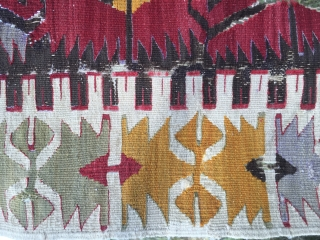 Have a look. This Western Anatolia, most likely Aydin kilim, is imho nothing special but has an interesting story behind. There was this lady living in the palace right in front of  ...