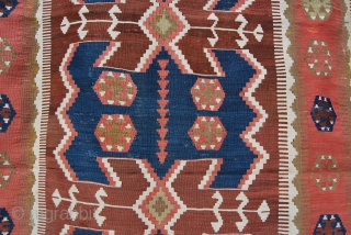 Obruk, Konya area, antique kilim. Cm 125x380. Late 19th or early 20th century. In good condition, a few old restorations, some moth bites. Must leave warehouse, unbeatable price. Pics shot this afternoon  ...