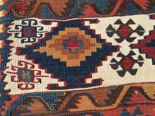 Eastern Anatolia. Malatya kilim. Cm 170x360. Datable 1860/1880. Wonderful colors, lovely pattern, great condition. Top kilim. More infos & pics on rq. See a previous ad http://rugrabbit.com/node/169040