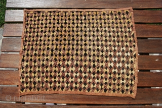 Shoowa tribe - Bakuba region - Congo - Raffia velvet textile  - early 20th century (or probably later) - pure primitivism - cm 55x40 - a lovely piece - no, it's  ...