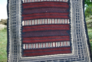 Baluchi kilim. Cm 100x180 ca. Early eighties. - At that time I used to fly to Pakistan to buy antique Central Asian rugs and kilims. Very soon I was asked to help  ...