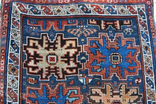 Daghestan rug, Lesghi star design. Cm 135x235. Early 20th century, good condition, high pile, few minor restorations. . Pls ask for more pics.