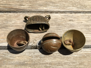 BURMA BRONZE BELLS The bronze casting in Burma using the lost wax method is very old and has always been excellent. Their bronze bells have attracted lots of collectors. These four bells are  ...