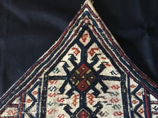 Bakhtiari bedding bag side panel. Cm 61x71. Late 19th century. Zagros mountains. South Persia. Center of the pattern is a beautiful animal head column. Very tight weave. In good condition. Quite rare.