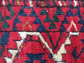 Turkman Ersari rug fragment. Cm 33x183. Imho first half 19th c. Fantastic colors. It has got a kind of Salorish flavour......isn't it?!