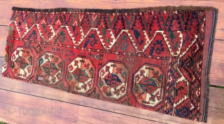 Turkmen Ersari rug fragment. Cm 67/77x177. Early 19th c. Great colors.