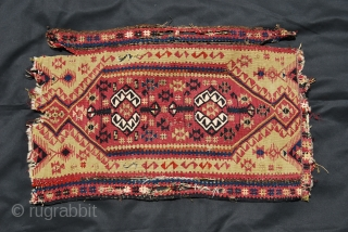 yastik kilim fragment from Malatya, Eastern Turkey....second half 19th century, cm 48x78, nice piece with lots of metal thread all over.....probably from Sinankoy village........