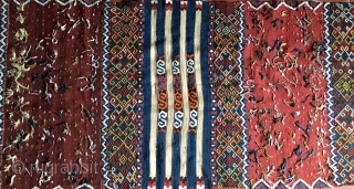 "Eastern Anatolia Malatya wedding kilim strip. Size is cm 88x372. Datable end 19th/early20th c. In mint condition. Great, natural colors. Lots of ""dileks""/wishes."