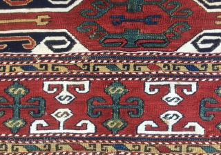 Sumack mafrash long panel. Caucasian, most likely Karabagh. Cm 40x120 ca. Good age, 1880 ca. Wonderful colors, great pattern. On the whole in a good condition. One of the nicest I had.