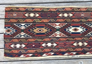 Shahsavan smack mafrash long panel. Cm 34x120. Beautiful, fine, colorful, in good condition.