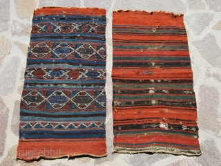 Karakecili cuval, front & back. Balikesir/Bergama area, Western Anatolia. Great colors. Second half 19th century.