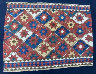 Star Shahsavan Sumack mafrash panel. Cm 52x54. Star sky, the ceiling of every nomad. Wonderful bright colors. In good condition.