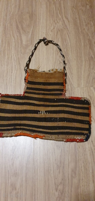 Tobacco bag, also called tutundan. Cm 35x45. Sumack weave. Should be Afshar. Available. (tks JH!)