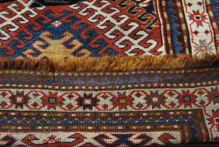 Karabagh rug. Cm 115x220. Brown totally oxidized. Full pile allover. Great piece. Great wool. Great dyes. Some minor rests. End 19th century.