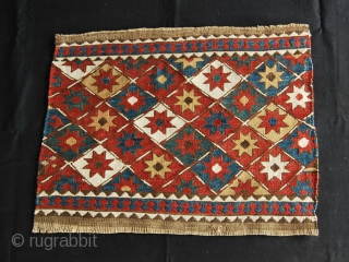 Shahsavan Star sumakh mafrash short panel. Cm 44x56 ca. end 19th century. Great dyes. Good condition. Ref 100Ck - See more pics on picasa: https://plus.google.com/photos/102077108999072625754/albums/5910070517907222593?banner=pwa