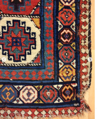 Mogan rug datable 1840/1850 or before. Have not seen such a rug for long time. Really a wonder. Available. Not cheap, but not expensive. Restoration project studied. Serious offers welcome.