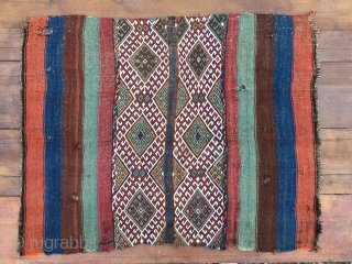 One more cuval from South East Anatolia. Nothing special, but lovely colors, classical pattern. Cm 105x130. Late 19th c.