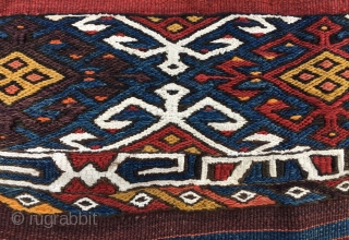 Anatolian cuval/storage bag. Cm 110x145 ca. Early 20th c. Imo might be from Eastern Anatolia, maybe Adiyaman? In good condition.