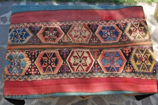 Malatya complete open cuval, probably Sinankoy village, cm 178x120. This great cuval has got everything: age, colors, pattern, condition. Approx age should be second half 19th century. Colors are wonderful, deep, charming.  ...