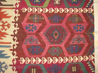 Malatya, Eastern Anatolia,  kilim strip - Cm 340x75 ca. - 2nd half 19th century - - wonderful dyes - good cond., needs some small restorations - 