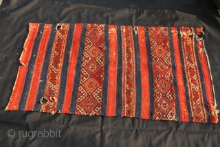 Yuncu Yoruk cuval face fragment - cm 112x68 - Second half 19th century - lovely, deep, saturated colors - in poor condition but still with a lot of character, aura, beauty....... Want to  ...