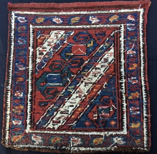 Baku Dragon sumack bag face. Cm 30x40 ca. Late 19th c. Great pattern,  good colors. In good cond. More infos & pics avlbl.
