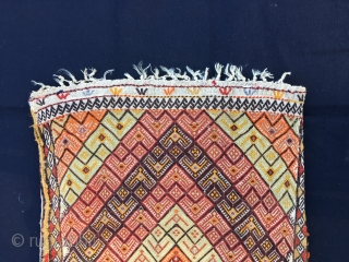 Sivas cicim dowry yastik/cushion.Cm 54x88. Late 19th, early 20th c. In good condition. One little hole and one little, old restoration to report.