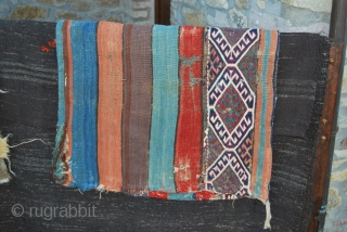 East Anatolia cuvals/storage bags. Some of the 60 or so cuvals from Eastern Anatolia. All about 100 or more years of age, all with great natural dyes, some in good, some in  ...