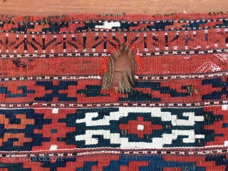 Turkmen Ersari flatweave cuval face. Cm 75x122 ca. Late 19th, early 20th c. Beautiful, used tribal bag. Some minor condition issues to report, see pics.