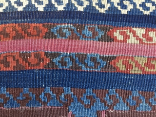 Wonderful East Anatolian kilim strip. Cm 90x280 ca. Datable to the 3rd quarter of the19th century. Fantastic deep saturated natural colors. Condition issues. Full length photo and more infos on request. Enjoy  ...