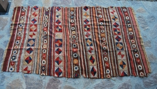 Western Anatolia, probably Bergama area, kilim with cicim brocade - second half 19th century -great, bright, strong dyes - For more pics have a look at this facebook link: http://www.facebook.com/album.php?aid=195084&id=579403491
