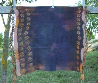 Two Tibetan yak wool tie & dye shawls from Southern Tibet and/or Zanskar. 