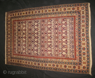 Antique Konagend Kuba rug - Cm 205x140 - second half 19th century . very fine weave - in really good condition - no restorations - beautiful colors - fantastic pattern - Ref  ...