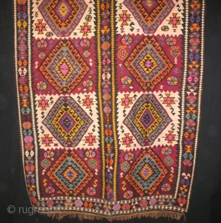 501 KARS AREA KILIM, EASTERN ANATOLIA, TURKEY, CM 430X150, BEAUTIFUL, LONG PIECE, EARLY 20TH CENTURY, IN GOOD CONDITION - 