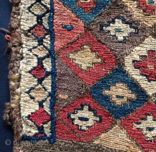 Super Shahsavan sumack bag. Cm 29x29. Wool & wool. Wonderful colors. Wonderful pattern. A real killer.