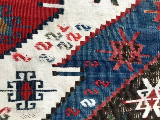 East Anatolia kilim strip. Imho it's a Malatya. Cm 84/88x315 ca. 3rd/4th q of 19h c. Great natural saturated colors, great pattern, wool & cotton, oxidized black, some irrilevant condition issues for  ...
