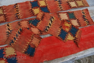 Kungrat qur/tent band fragments. Five pieces for a total lenght of cm 436x16. Primitive & beautiful, antique & colorful, simple & charming. See more pics on Facebook: https://www.facebook.com/media/set/?set=a.10151378519634258.536669.358259864257&type=1