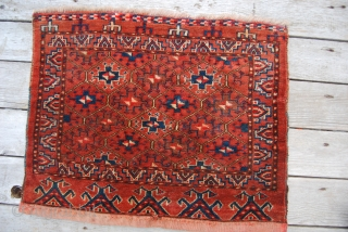 Turkmen Ersari khorjin bag face. Cm 46x56. Great pattern. Full pile. Good cond.