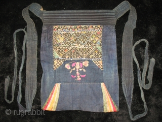 Two Miao Embroidered baby carriers. Chinese monorities. Early 20th century. Approx size: cm 60x45 or in 24'x18'.