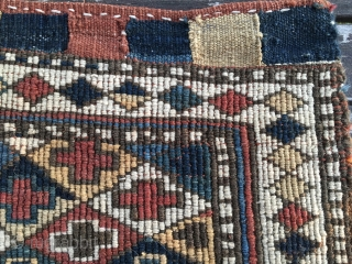 Shahsavan Sumack khorjin bag face. Cm 46x49 ca. End 19th, early 20th c. Beautiful colors, lovely pattern, sweet & beautiful. Ask for more pics & infos.