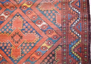 Antique Ersari Bashir Rug 19th Century Size is 5.5x10 (167cmX304cm)