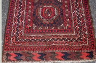 Beluch Rug 19th Century Nice Colors.size is 3.6 X 8.0.  