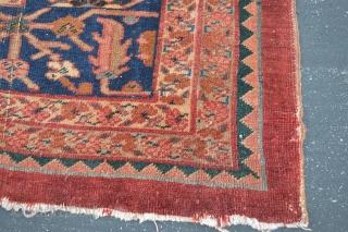 Persian Mahal Fragment rug size 3.7x6.9