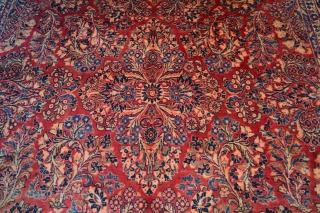 Persian Sarouk Circa 1920 painted in good condition full pile, All ready washed  Size is 9 x 11.9 (275cm X 362cm)