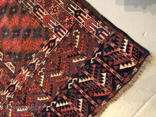 Nice Turkman Circa 1900 in good conditions no repair and has abrash on the top border of the rug. 