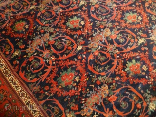 Antique 1920's Persian Bijar Carpet.