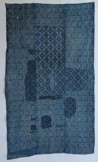 Very nice Japanese Boro textile.  154 x 90 cm