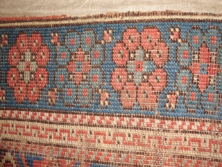 Anatolian Ushak fragment mounted on cotton XVIII th.century.Size 200x300 cm