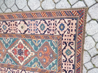 Caucasian Shirvan XIX th. Century cm 103x278 cm.very good conditions